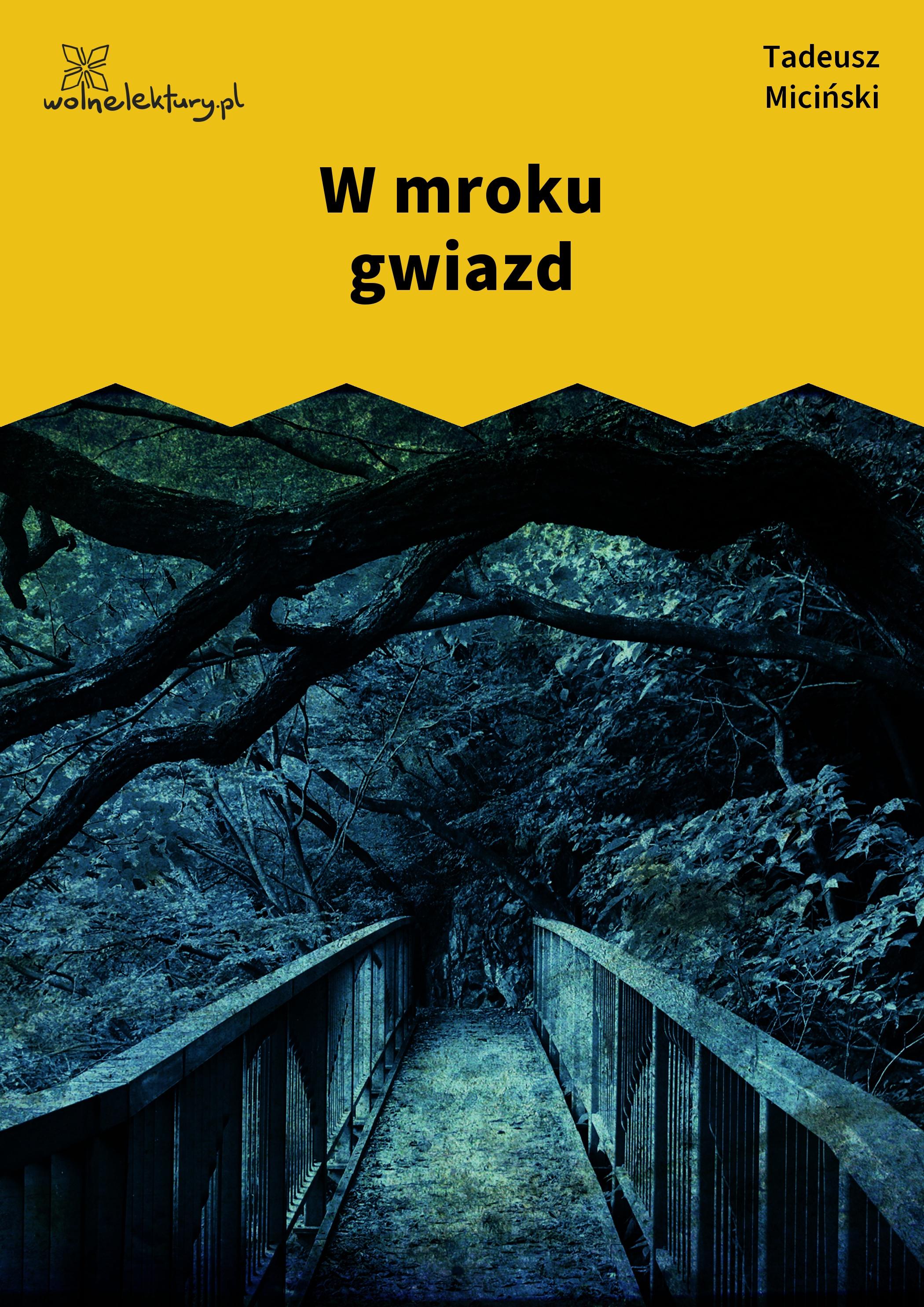 Tadeusz Miciński W Mroku Gwiazd Wolne Lektury