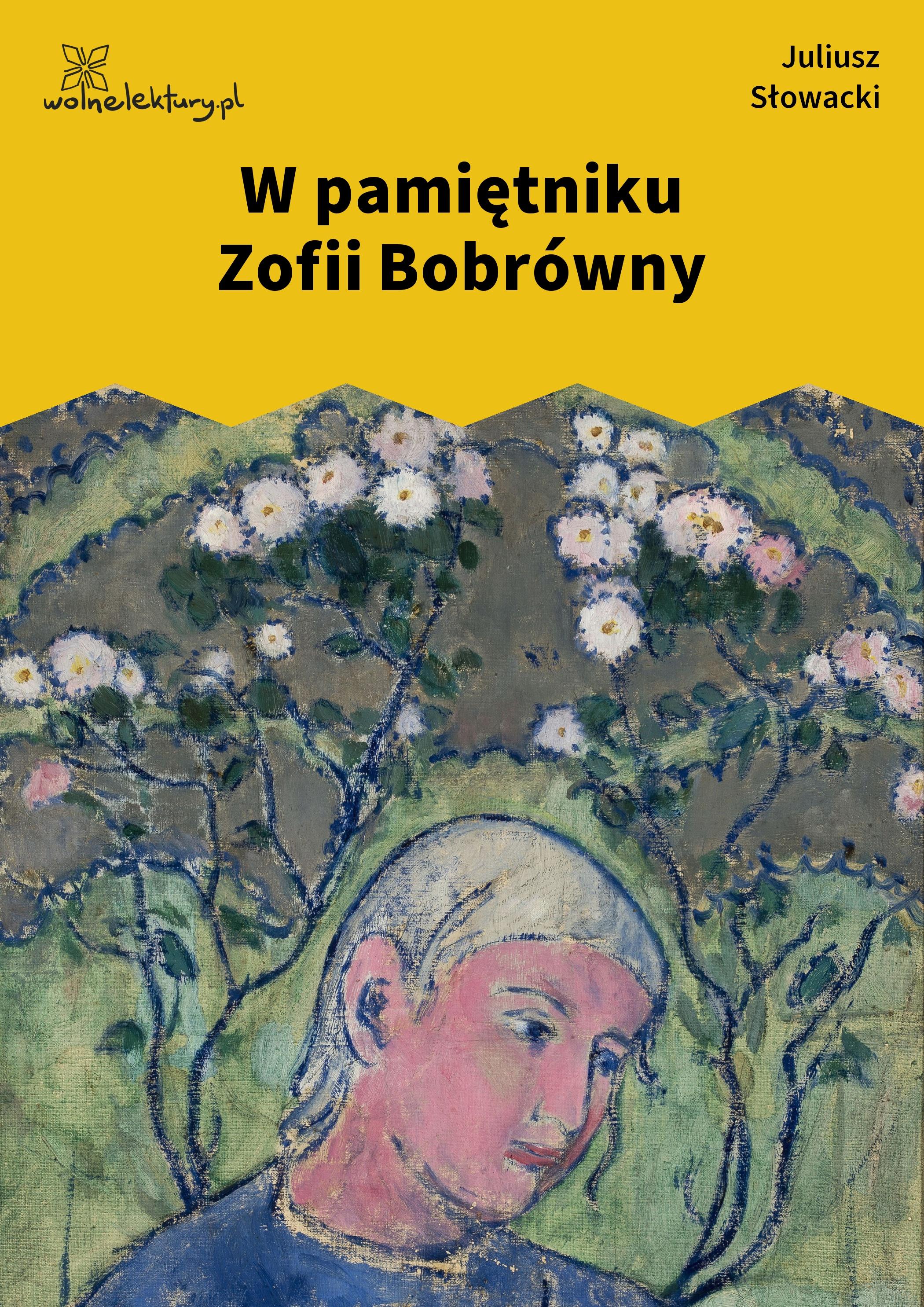 Juliusz Słowacki W Pamiętniku Zofii Bobrówny Wolne Lektury